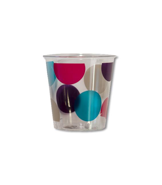 Bicchieri di Plastica Pois Multicolor 300 cc
