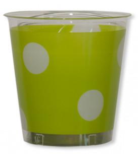 Bicchieri di Plastica Pois Verde Lime 300 cc