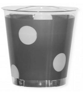 Bicchieri di Plastica 300 cc Pois Argento 3 confezioni
