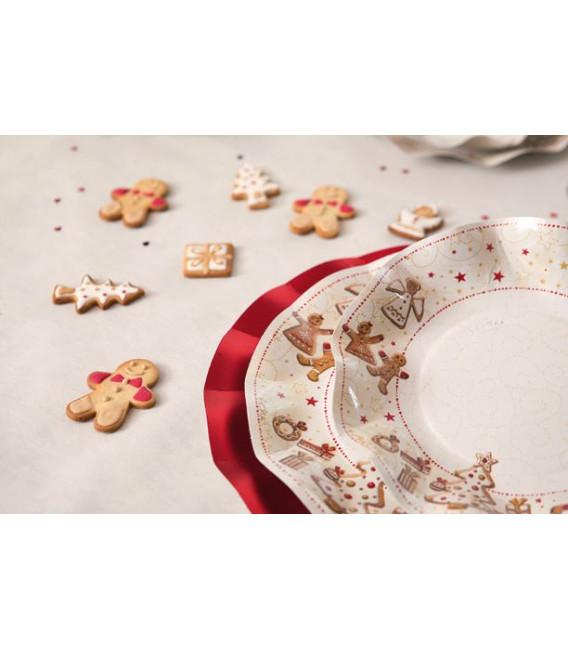 Piatti Piani di Carta a Petalo Gingerbread