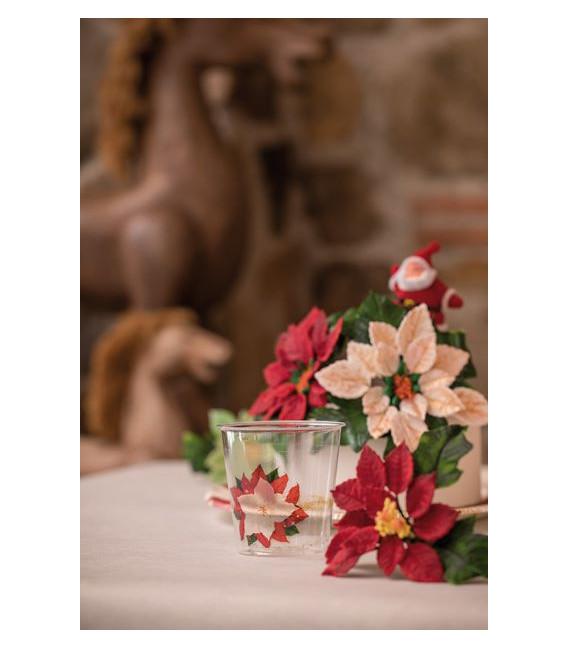 Piatti Fondi di Carta a Righe Stella di Natale 25,5 cm