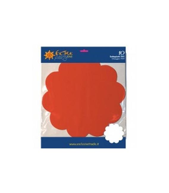 Tovagliette in TNT Smerlate Rosso Corallo 35 cm