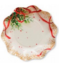 Piatti Fondi di Carta a Petalo Christmas Bouquet 24 cm