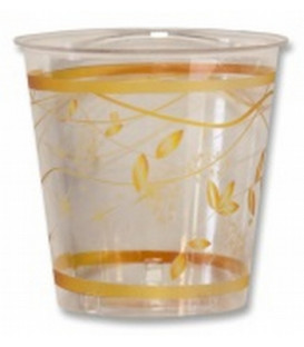 Bicchieri di Plastica 300 cc Golden Christmas 3 confezioni