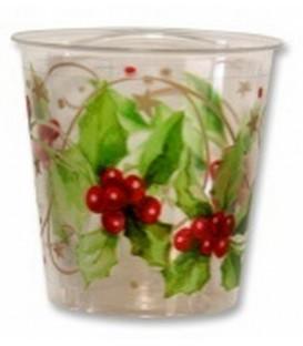 Bicchieri di Plastica Christmas Style 300 cc 3 confezioni