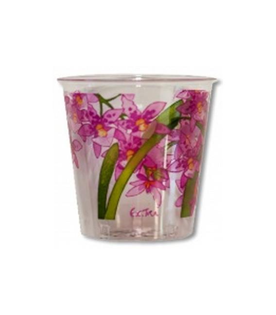 Bicchieri di Plastica Orchidee Rosa 300 cc