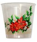 Bicchieri di Plastica Fiori di Natale 300 cc