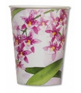 Bicchieri di Carta Orchidee Rosa 250 cc