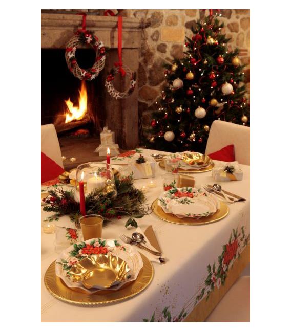 Bicchieri di Plastica 300 cc Natale Romantico 3 Confezioni