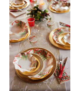Piatti Piani di Carta a Petalo Christmas Bouquet