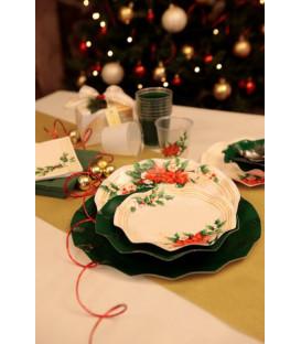 Piatti Piani di Carta a Petalo Fiori di Natale