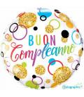 Palloncino Buon Compleanno Multicolor