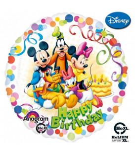 Palloncino Topolino and Friends Happy Birthday