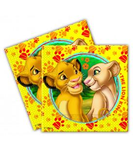 Tovaglioli 33 x 33 cm Il Re Leone Disney 3 Confezioni