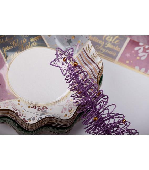 Piatti Piani di Carta a Petalo Rose Gold Christmas 27 cm