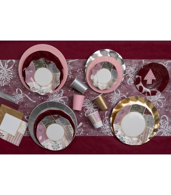 Tovaglioli 3 Veli Rose Gold Christmas 3 confezioni