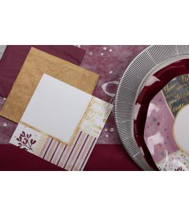 Tovaglioli 3 Veli Rose Gold Christmas 33x33 cm 3 confezioni