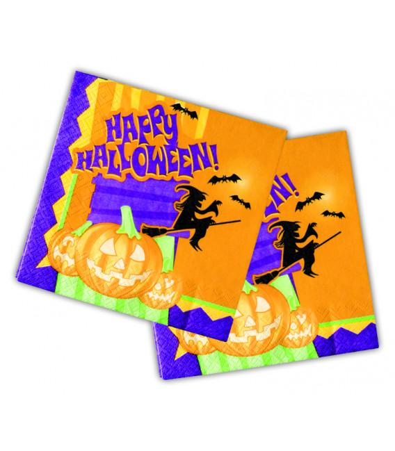 Tovaglioli 33 x 33 cm Happy Halloween 3 confezioni