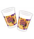 Bicchieri di Plastica 180 - 200 cc Happy Halloween