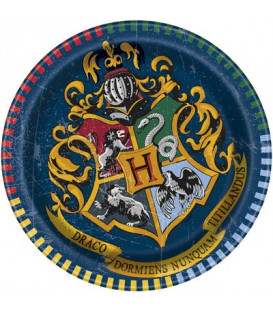 Piatto Piano Piccolo di Carta 17 cm Harry Potter Warner Bros