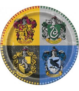 Piatto Piano Grande di Carta 22 cm Harry Potter Warner Bros