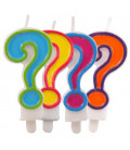 Set candeline colorate punto interrogativo
