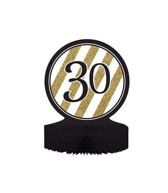 Centrotavola numero 30 Black & Gold