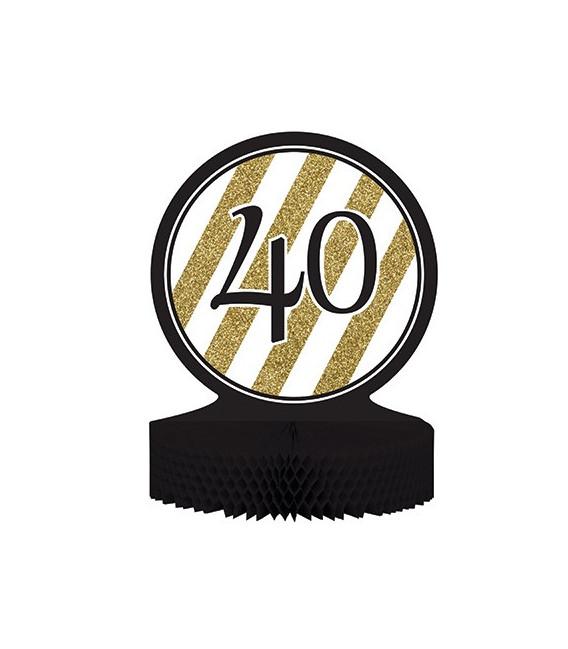 Centrotavola numero 40 Black & Gold