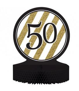 Centrotavola numero 50 Black & Gold