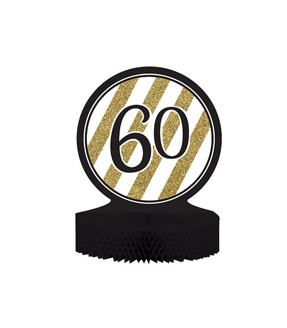 Centrotavola numero 60 Black & Gold