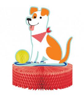 Centrotavola nido d'ape Cani Dog Party