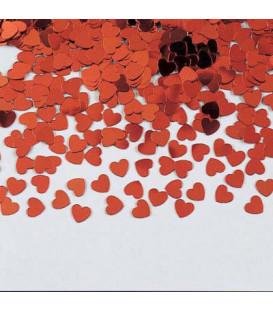 Confetti da tavola Cuori rossi