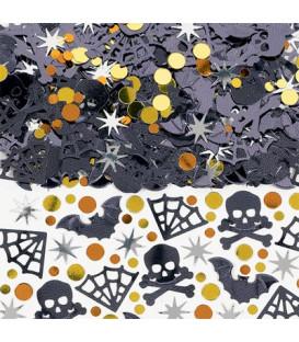 Confetti da tavola Pipistrelli e Teschi