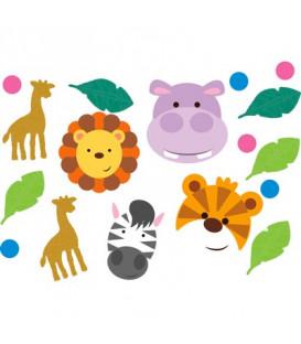 Confetti da tavola animali della giungla