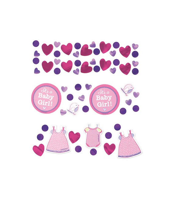 Confetti da tavola Vestitini - Shower with Love Girl