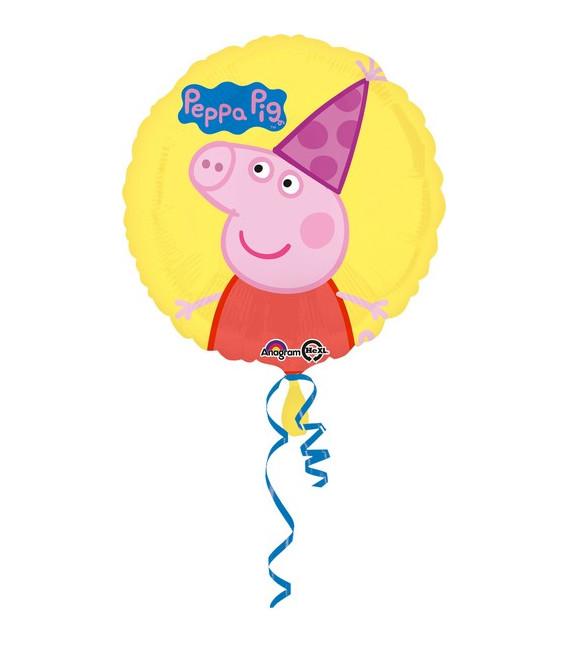 "Pallone foil standard 17"" - 42 cm Peppa Pig Happy Birthday"