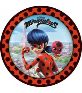 Piatto 23 cm Miraculous Lady Bug