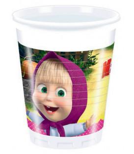 Bicchiere plastica 200 ml Masha e Orso