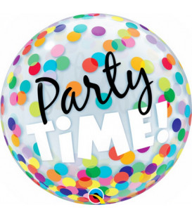 Pallone Bubble Party Time Colorful Dots