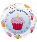 Pallone foil Buon Compleanno Cupcake