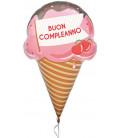 Pallone foil Supershape Buon Compleanno Gelato