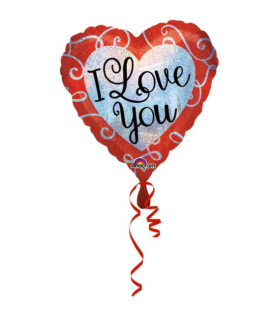 Pallone foil standard Sparkle Heart
