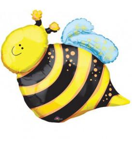 Pallone foil Minishape Ape - Happy Bee