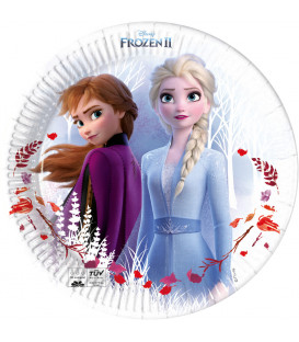Piatto di carta Piano 23 cm Frozen II Disney