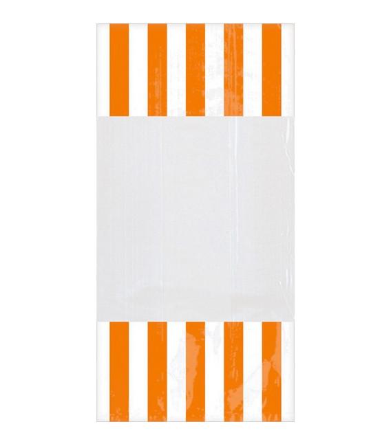 Sacchetti cellophane striped 13 x 25 cm Arancioni 10 Pz