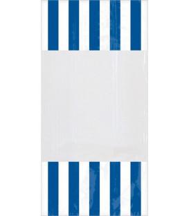 Sacchetti cellophane striped 13 x 25 cm Blu Royal 10 Pz