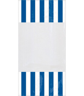 Sacchetti per caramelle in cellophane striped blu royal