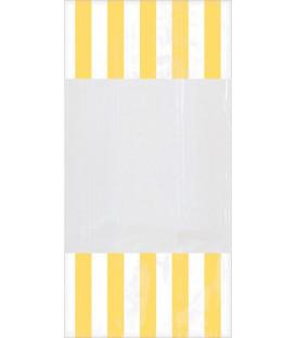 Sacchetti cellophane striped 13 x 25 cm Giallo 10 Pz