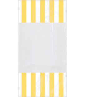 Sacchetti per caramelle in cellophane striped giallo