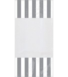 Sacchetti cellophane striped 13 x 25 cm Grigio 10 Pz